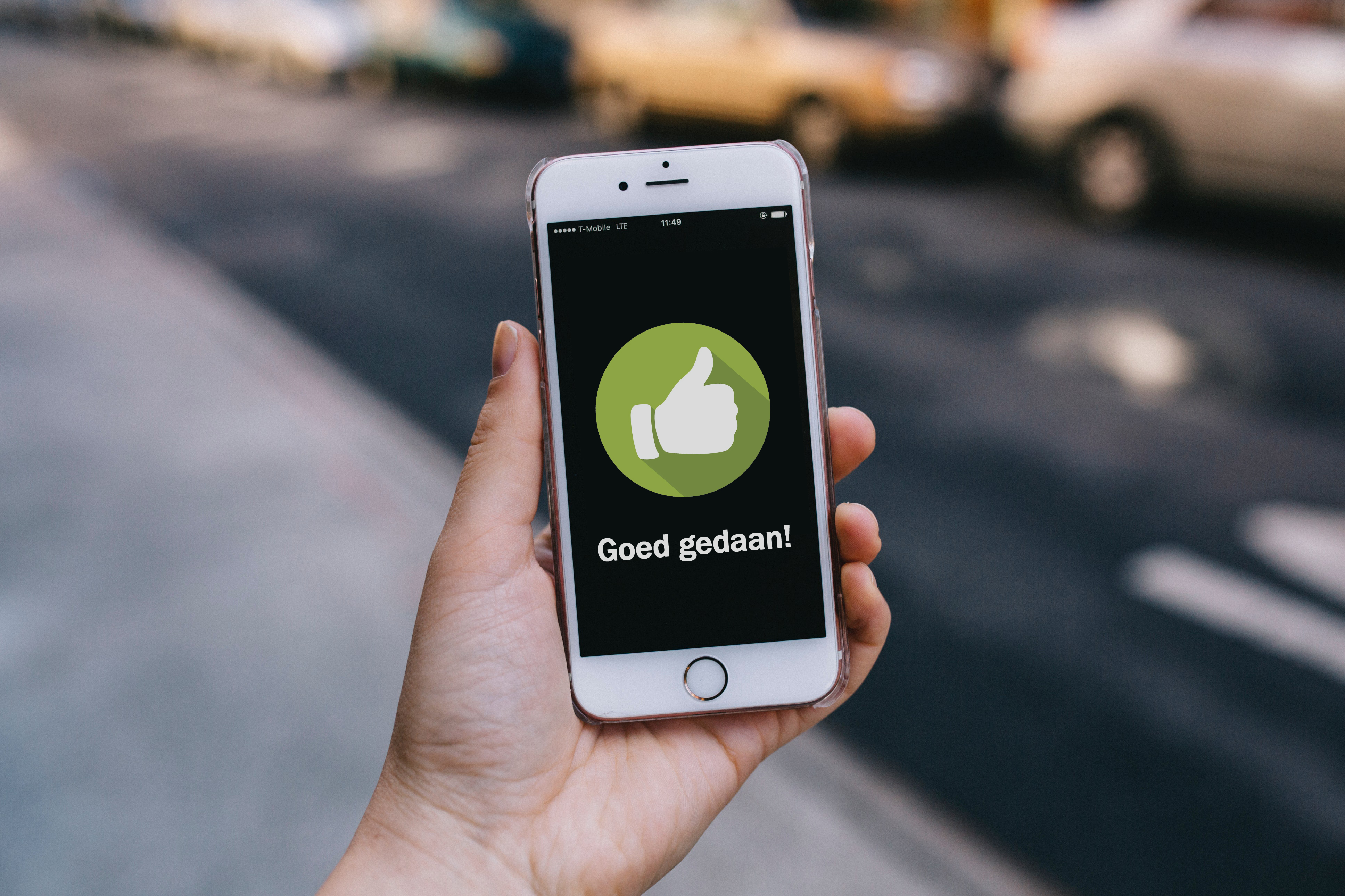 AutoModus app: de invloed van complimenten op gedrag