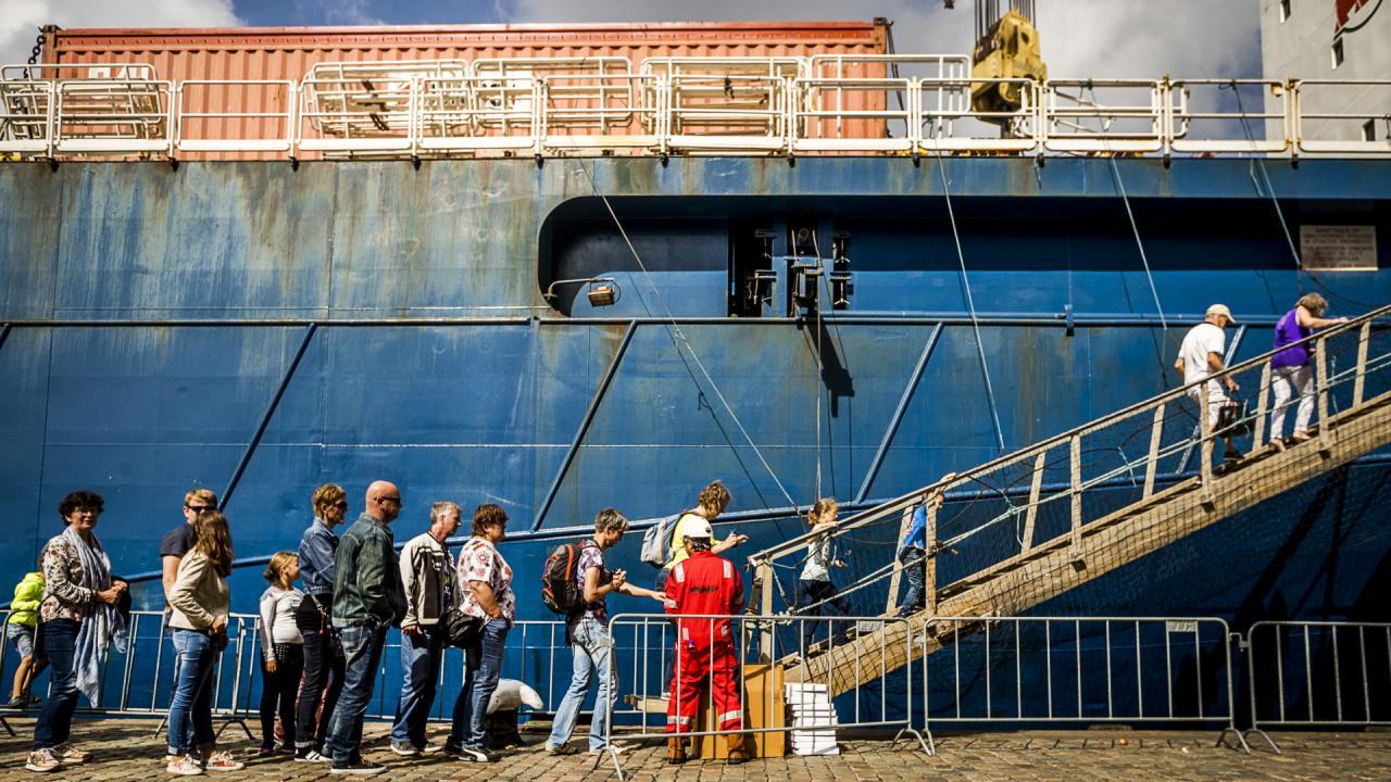 Afvalscheiding op evenementen: Wereldhavendagen Rotterdam