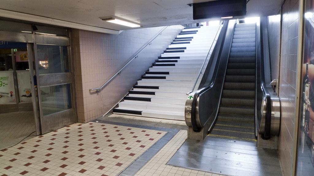De pianotrap is een belachelijke nudge